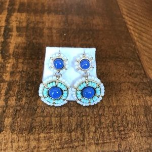 Talbots Seed Bead Encrusted Drop Earrings